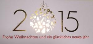 Weihnachtliche Grüße vom Erlenhof 2015